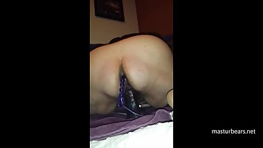 Vanessa 57 humps dildo with beads in ass