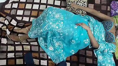 Blue Saree Trisha Bhabhi fucking Devarji Hot with cumshot