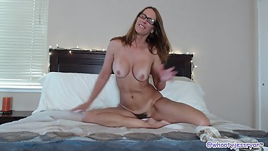 Jess Ryan Take Me To Bed Blowjob and Riding Long Dildo