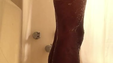 Ebony Shower Spycam (Watch Until End)