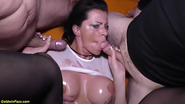 busty german milf dacada extreme rough group banged