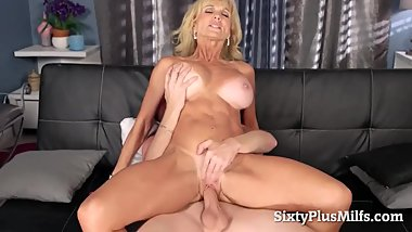 Nasty mature fucked a big cocked guy