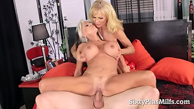 Lucky guy banged to sexy mature sluts