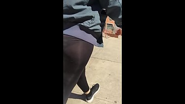 A DAY OUT WITH WIFE IN SEE THROUGH LEGGINGS SPANDEX Part 2