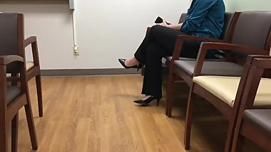 Candid lady in High Heels