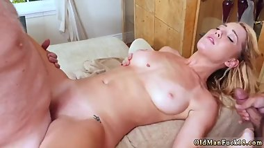 Daddy pal's companion's daughter cheerleader old woman anal creampie