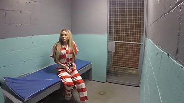 Gotcuffs Zoey lovely feet barefoot in prison shackled