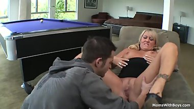 Big Tit Blonde Mom Fucked Beside Pool Table - Full Movie