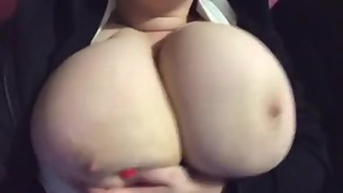 huge boobs out of bra