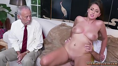 Very old grandpa Ivy impresses with her enormous hooters and ass