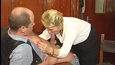 Naughty mature lady fucking and sucking at the resturant