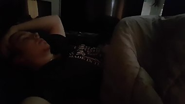 Horny Married Milf Sucks Cute Young Boys Dick Under Covers