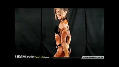 incredible muscular older woman posing in bikini 3