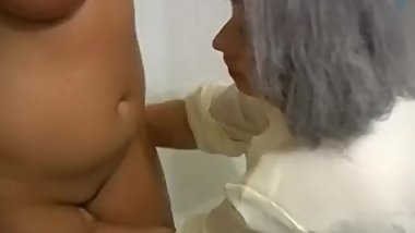 Mature Ladies Play in Shower