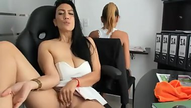 Hot Latina Emilybrowm Playing with Herself at Workplace (Part 1)