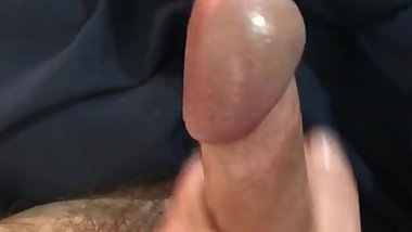 My wife jerking my cock rocket then licks cum off cock at end of explosion