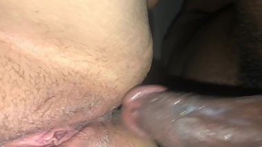 BIG THICK WHITE GIRL CREAM MY BIG BLACK COCK! doggystyle