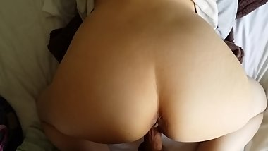 half asian/white slut big ass doggy style lazy bitch trying no to cum