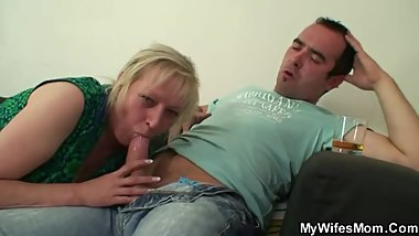Cheating sex with big boobs mother-in-law