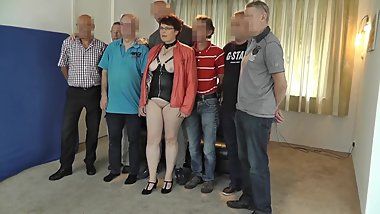 Dutch BBW rubens cougar milf in gangbang