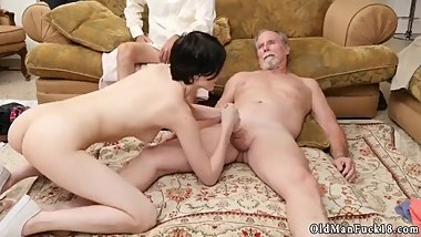 Old man fucks xxx dominant daddy Frannkie goes down the Hersey highway