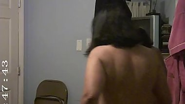 Spy Cam catching mature milf, shower time pt1