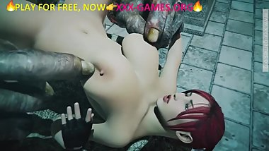 Giant monster stroking nipples, xxx game