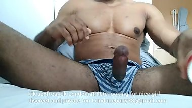 Straight Fit athletic black guy dirty talk masturbation cum shot