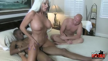 Hot Bitch wife fucks BBC in front of CUCKOLD husband Sally D'angelo