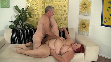 Mature BBW fucked by a big white dick