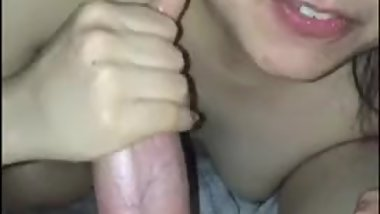 cheating asian blowjob