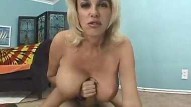 blonde milf with enormous naturals pov