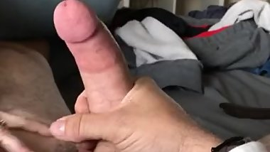 Cock and balls slap cum