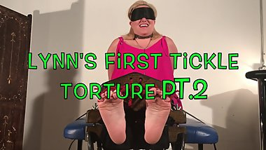 Lynn's first tickle torture