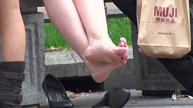 Thick Milf Heels Tired Feet Shoeplay