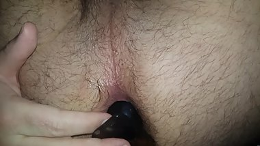 First time Buttplug anal insertion