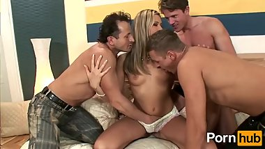 Sexy beautiful milf gangbang
