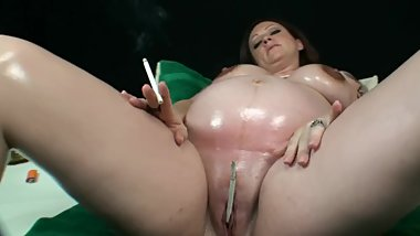 Lacey King Pregnant Woman Smoking Fetish