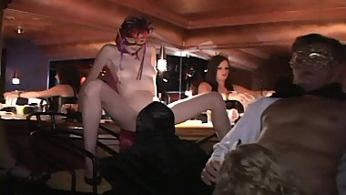 Masked soccer moms take fucking to new heights-At the bar-and on it Part 2