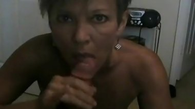Smoking Cougar Gives Smokey Blowjob