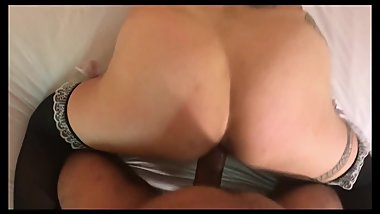 Sexy Serra Laroux Riding and sucking. Great time with Tattooed Brunette