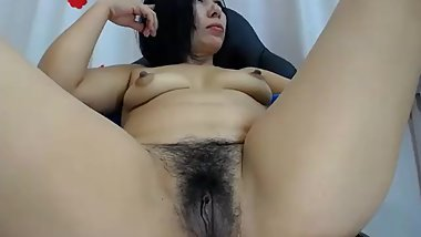Mature Hairy Latina has Orgasm with Hitachi, Contractions @ 24:05