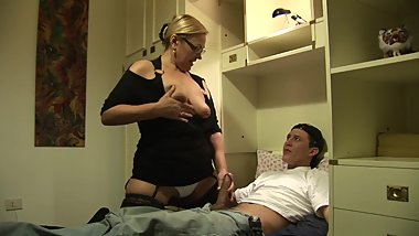 Blonde milf fucked by a hard big cock