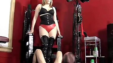 Elektra Skye Ballbusting Whipping and Nylon Worship