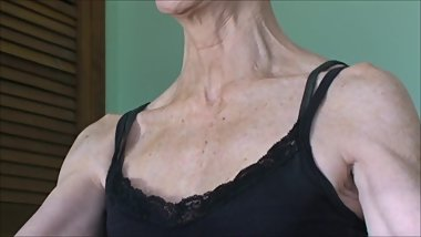 MILF with veiny neck talks and her neck veins engorge