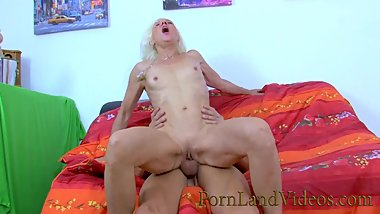 slutty French granny going crazy for young big cocks