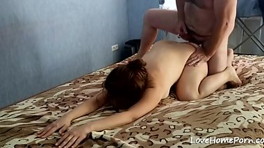 Missionary and doggystyle fucked wife