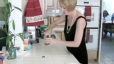 Grandmother With Pearls Homemade Blowjob