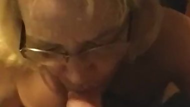First meet cocksuking milf while son is in next room