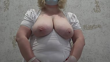 anal, anal fisting, a mature nurse with large natural titkyami